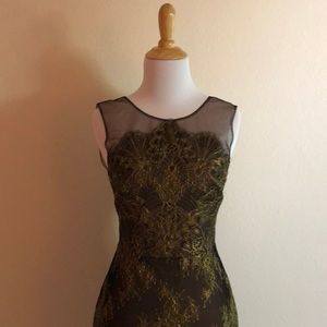 BCBG Black and gold tone dress.